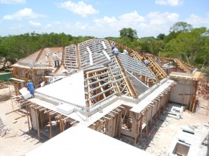 mexican style house plans being built yucatan mx