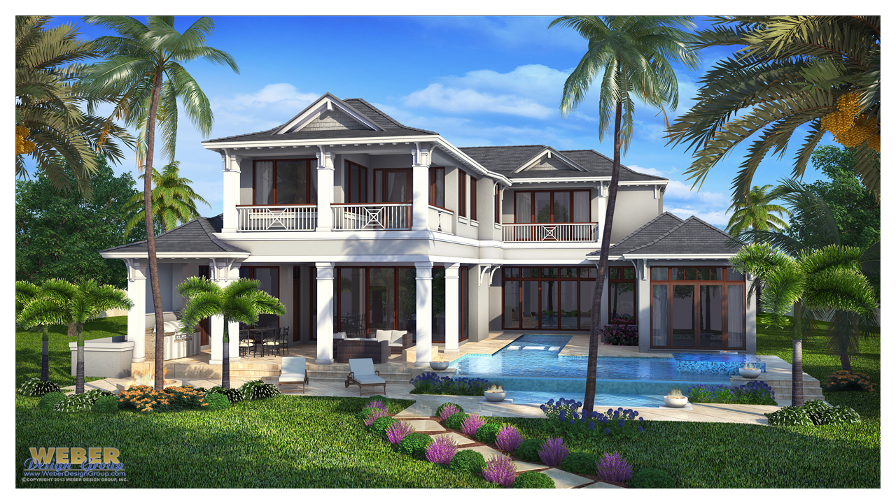 Naples fl architecture west indies style house plan for Weber design