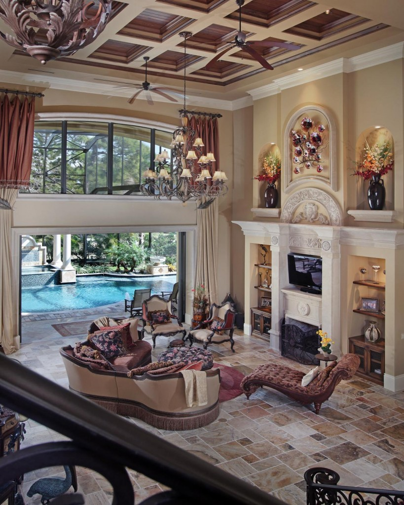 mediterranean house plan - Mediterranean Living Room 2015