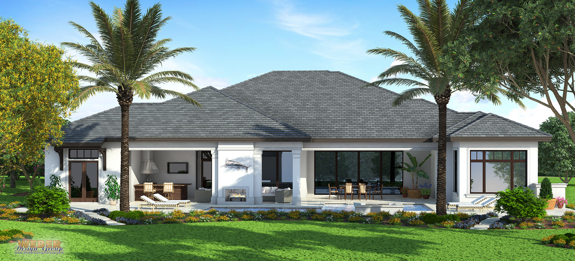 Naples architect designs west indies spec home for West indies house plans