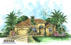 Mediterranean Floor Plan - Laverra House Plan