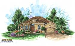 Murano Home Plan-Mediterranean House Plans