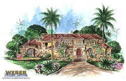 Tuscan Floor Plan | Palacio House Plan