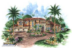 Escada Home Plan-Spanish House Plans