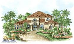 Mediterranean Floor Plan | Bradley House Plan