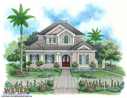 Key west house plan florida house plan weber design group for Key west style home floor plans