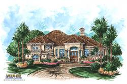 Mediterranean Floor Plan - Antigua House Plan