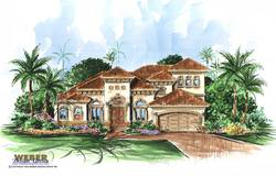 San Gabriel Home Plan-Mediterranean House Plans