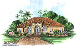 Verandah Home Plan-Tuscan Style House Plans