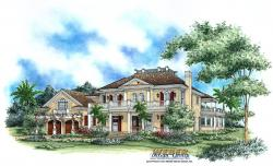 Savannah Home Plan-Olde Florida Home Plans