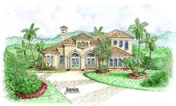 Sanibel House Plan-Mediterranean House Plans