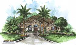 Belle Chase Home Plan-Pool House Plans