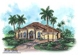 Grenada Home Plan-Mediterranean House Plans