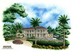 Devonwood House Plan-Caribbean House Plans
