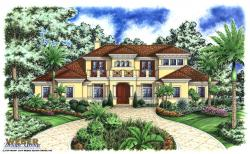 Casablanca House Plan-Mediterranean House Plans