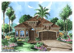 Mediterranean Floor Plan - Benito House Plan