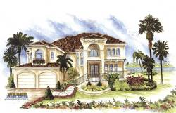 mediterranean floor plan - Catania I House Plan