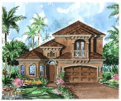 Marseille House Plan-Tuscan Style House Plans