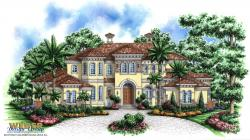 Tuscany II House Plan-Tuscan Style House Plans