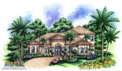 Royal Palm House Plan-Mediterranean House Plans