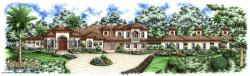 Santorini Manor Home Plan-Tuscan Style House Plans