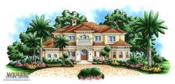 Woerner Place Home Plan-Spanish House Plans