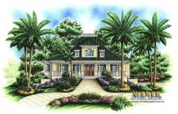 Walkers Cay Home Plan-Key West House Plans