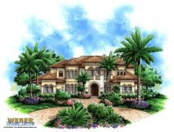Treviso Bay Home Plan-Spanish House Plans