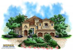 Aurora II House Plan-Mediterranean House Plans