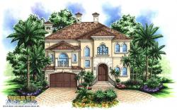 Saint Tropez House Plan-Mediterranean House Plans