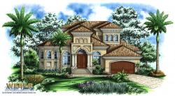 Verrado Bay House Plan-Mediterranean House Plans