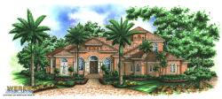Coconut Grove Home Plan-Tuscan Style House Plans