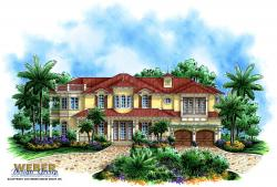 Island Breeze Home Plan-Waterfront House Plans