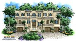 Las Olas Home Plan-Spanish House Plans