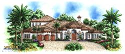 Coronada Home Plan-Mediterranean House Plans