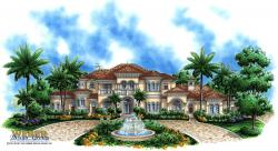 Mediterranean Floor Plan |  Mar-A-Lago House Plan