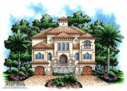 Casa Bella II House Plan-Three Story House Plans