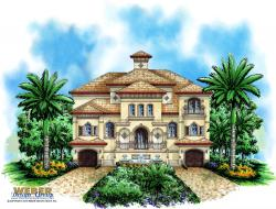 Casa Bella IV House Plan-Three Story House Plans