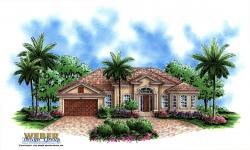 Mediterranean Floor Plan - Villa Siena Home Plan