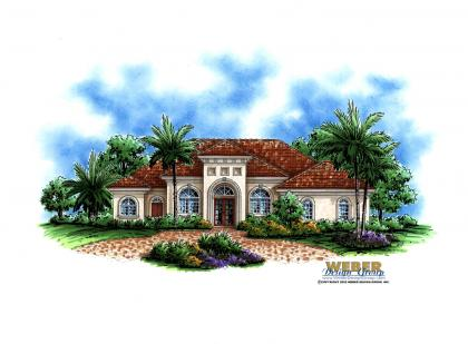 Mediterranean House Plan - Santa Barbara House Pla