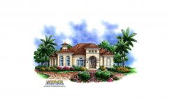 Las Brisas Home Plan-Mediterranean House Plans