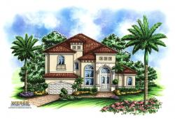 Aurora V House Plan-Mediterranean House Plans
