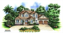Deauville Home Plan-Pool House Plans