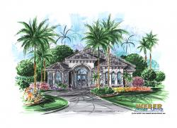 Mustang Island Home Plan-Mediterranean House Plans