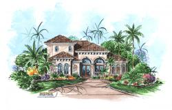 Avellino Isle Home Plan-Tuscan Style House Plans