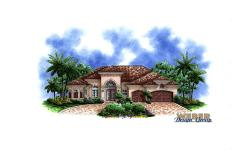 Delano Home Plan-Tuscan Style House Plans