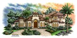 Estrella House Plan-Tuscan Style House Plans