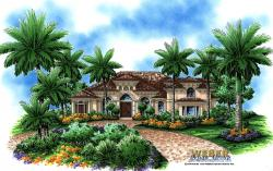 Valencia House Plan-Tuscan Style House Plans
