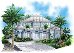 Coastal Floor Plan - Sunset Cove House Plan
