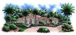 Mediterranean Floor Plan - Colonnade House Plan
